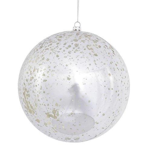 Vickerman N591500D Clear Drilled Ball Ornament - 6 in. - 4 per Bag