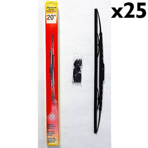 STADIUM - Universal Fit Spoiler Car / Van Wiper Blades 20 inch - 25 PACK
