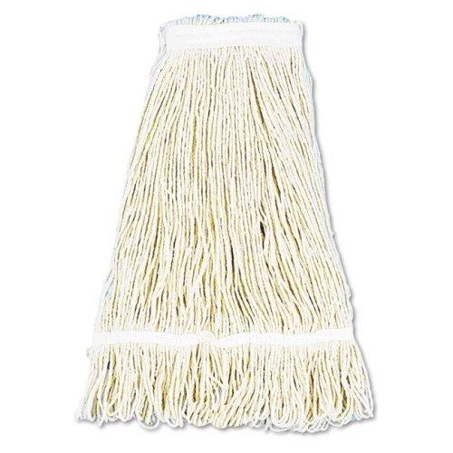 Boardwalk BWK424CCT 24 oz Pro Loop Web & Tailband Wet Cotton Mop Head - White, 12 per Case