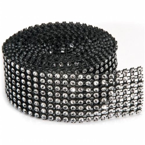 Bling On A Roll 3mmX2yd-8 Rows, Black & Silver