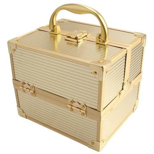 TZ Case AB-14 GGS Compact Makeup Case, Gold Stripe