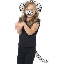 Smiffy's Dalmatian Kit With Ears On Headband Tail And Nose -  fancy dress kit dog dalmation book week dalmatian costume animal girls child accessory