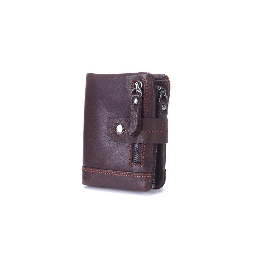 BULLCAPTAIN 13 Card Slots Wallet Genuine Leather Card Holder Vintage Coin Bag For Men. >