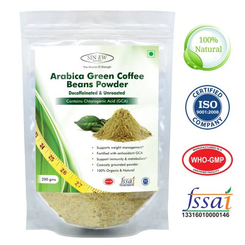 Pack x 2 Nutrition Green Coffee Beans Powder Weight Management 200gm
