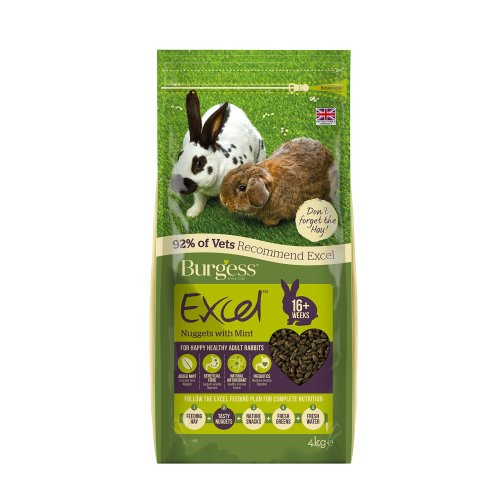Burgess Excel Nuggets with Mint Adult Rabbit Food 4 kg