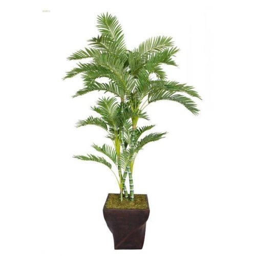 Minx NY VHX112203 Laura Ashley 82 in. Tall Palm Tree in 17 in. Fiberstone Planter