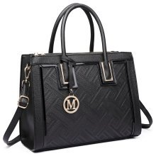 Miss Lulu Women Handbag Cross Body Shoulder Bag PU Leather Tote