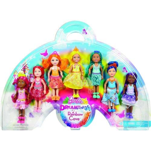 Barbie DPY37 Dreamtopia Rainbow Cove 7 Doll Gift Set, Multi Color