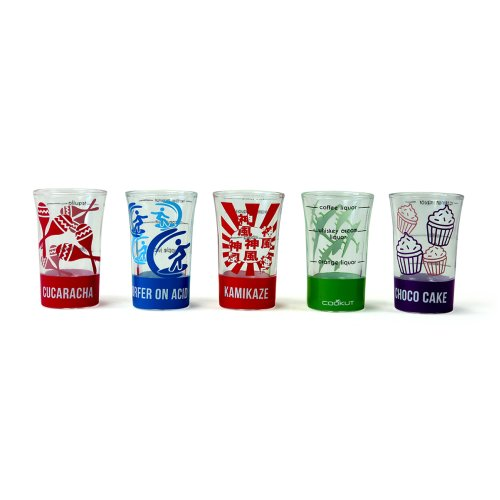 Cookut Easy Cocktail Shot Glass Set of 5
