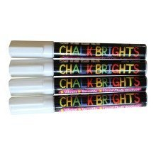 Pack Of 4 Chalk Brights White -- Liquid Chalk Pens