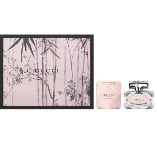 Gucci Bamboo Eau de Parfum Women's Gift Set Spray (50ml) with Body Lotion