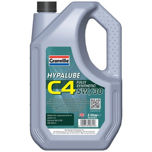 Granville 0815 Hypalube C4 5W/30 Engine Oil, 5 Liters