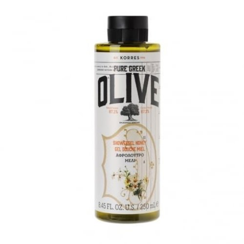 KORRES Pure Greek Olive Natural Olive Honey Shower Gel, Vegan