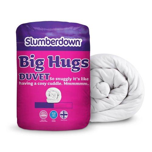 Slumberdown Big Hugs Winter Warm 15 Tog Duvet, White, Double