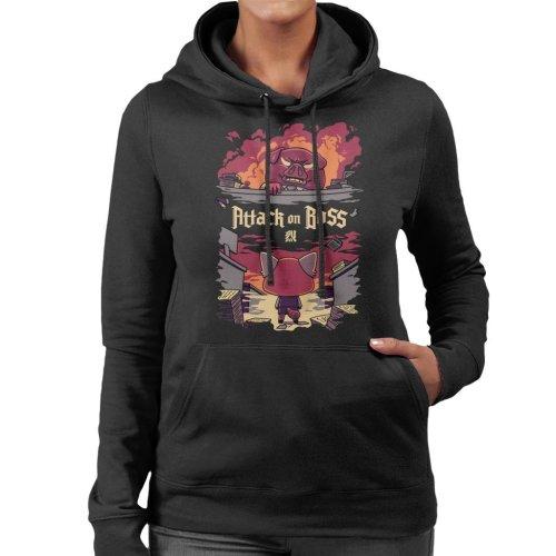 Attack On Titan Boss Aggretsuko Women's Hooded Sweatshirt
