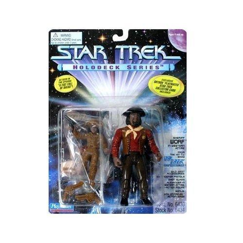 Star Trek Holodeck Series Sheriff Worf in Western Attire Figure