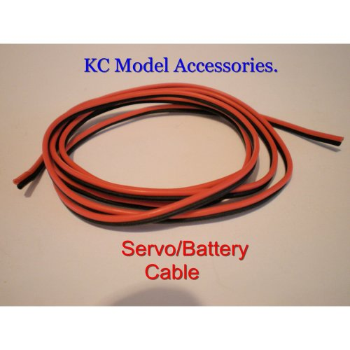 Battery-Servo Silicone Cable 22awg Futaba JR Spektrum Hitec 2 Wire Flat