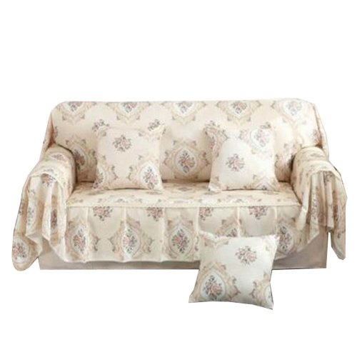 3 Seat Sofa Slipcover Elegant Couch Cover Furniture Protector #36