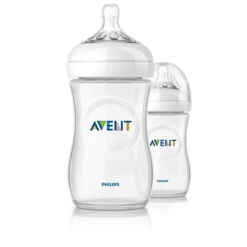 Philips Avent 260ml Natural Feeding Bottles Scf693/27 Twin Pack