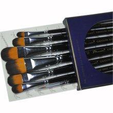 Nylon Watercolor & oil Paintbrushes Long Handled Brush Sets, 7-Piece