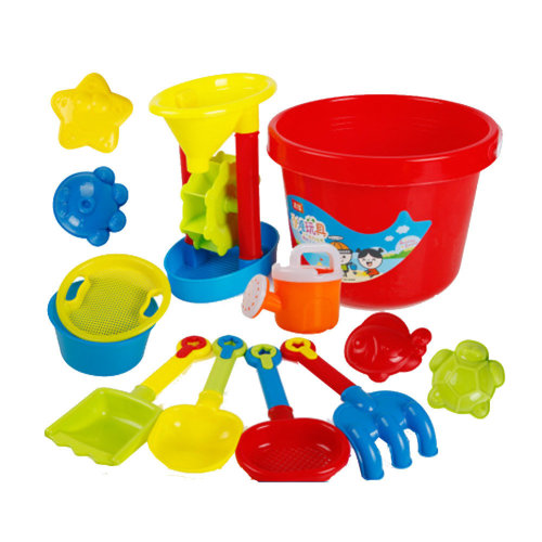 13 Piece Beach sand Toy Set, Bucket, Shovels, Rakes,Perfect for Holding Childrens' Toys