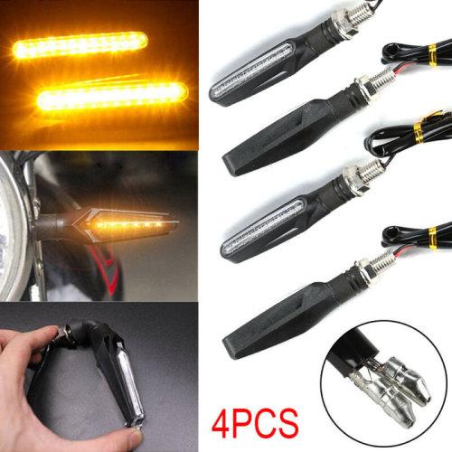 4x LED Motorcycle Sport Bike Motorbike Turn Signal Indicator Light Amber 12V UK