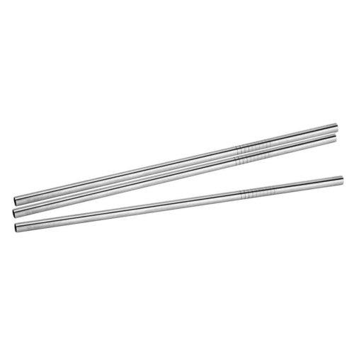 Set of 6 Stainless Steel Drinking Straws Metal Cocktail Straws