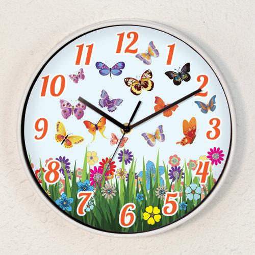 Summer Day Children Wall Clock Kids Room