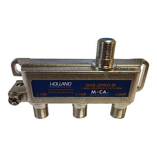 Holland Electronics 3 Way Splitter MOCA Compliant 5 1675Mhz