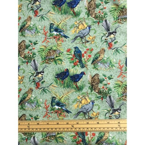 Fat Quarter Chatter Birds Cotton Quilting Fabric Various New Zealand Breeds
