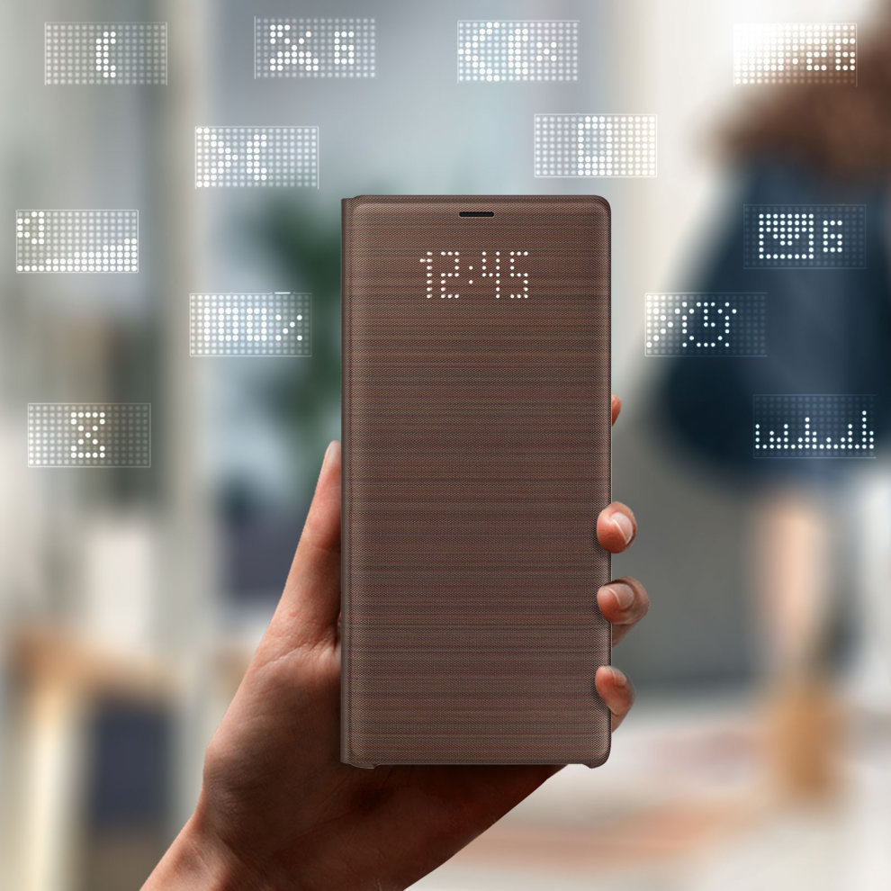 huge discount 5ce4f 1da66 Official Samsung LED View Cover Case for Samsung Galaxy Note 9 - Brown
