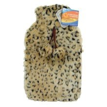 Adults 2 Litre Animal Print Fauk Fur Hot Water Bottle Cover Hw154 -  hot water bottle ashley multicolour 2 litre animal print faux fur cover