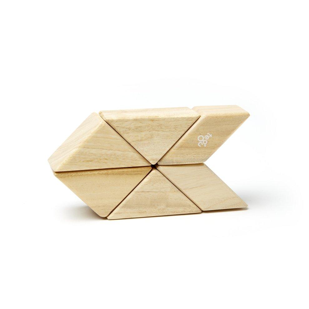 9715b57a 6 Piece Tegu Pocket Pouch Prism Magnetic Wooden Block Set, Natural ...