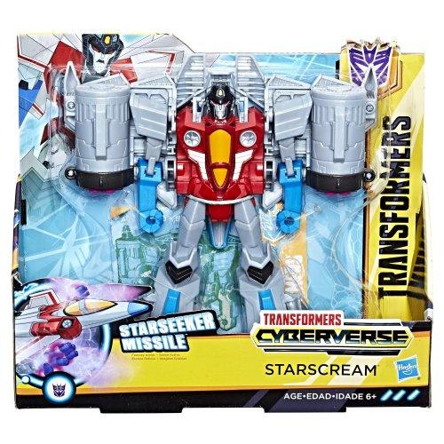 "Transfomers E1906 Cyberverse Ultra Class Starscream 8"" Action Figure"