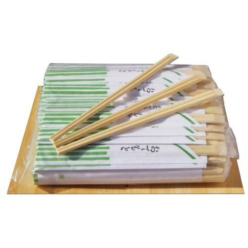 Disposable bamboo Chop sticks in paper sleeve 21cm x100