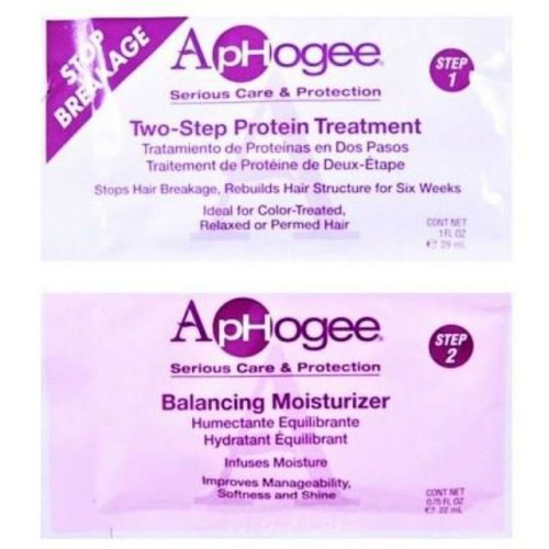 Aphogee 2 Step Protein Treatment & Balancing Moisturiser Twin Sachets
