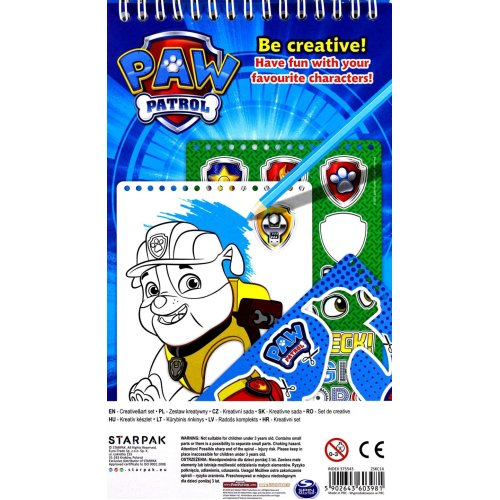 PAW PATROL Creative & Art Set Hours of Colouring and Sticker Fun