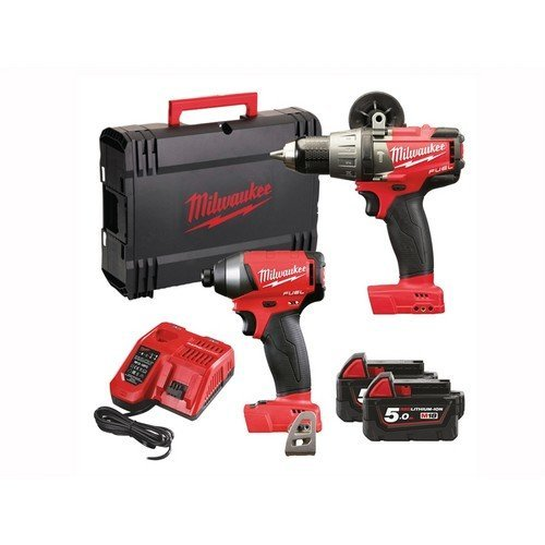 Milwaukee 4933451076 M18 FPP2A-502X Fuel Twin Pack 18 Volt 2 x 5.0Ah Li-Ion