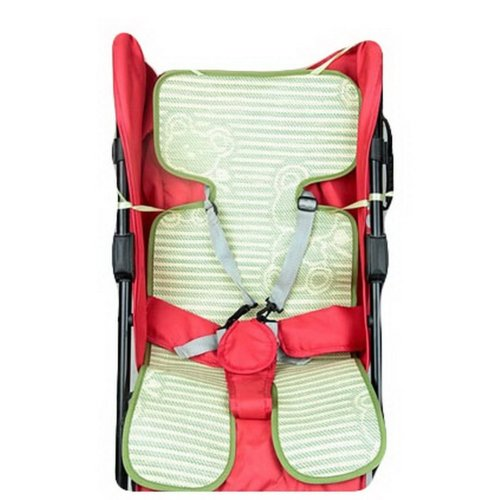 Summer Carts Mats Reusable Stroller Flax Mats Liner for Stroller,Green