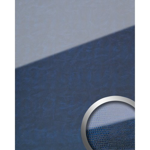 WallFace 16984 LEGUAN Wall panel self-adhesive Glass look dark blue | 2.6 sqm