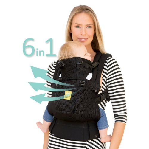 LÍLLÉbaby  Complete Airflow 6-in-1 Baby Carrier, Black