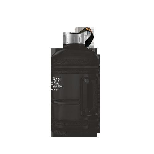 1L Hydration Bottle - Black Rubber