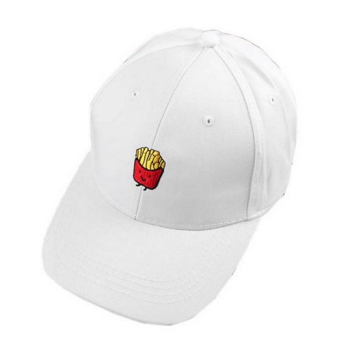 Fries Sports Caps Fashion Caps Ladies Baseball Caps Women Golf Hats White