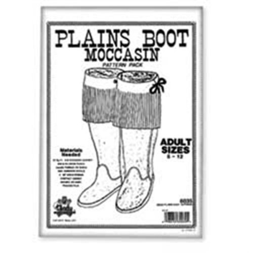 Adult Plains Boot Moccasin Pattern Pack - Pack -  pattern plains boot moccasin packadult