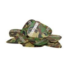 Boss BPK-12-CH Celluloid Guitar Pick - Heavy - CAMO 12 x Plectrums In Pack