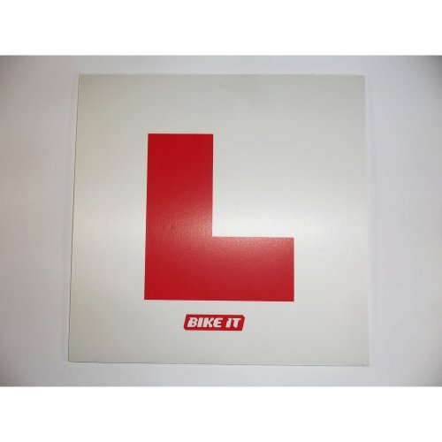 BikeIt rigid L-plate motorcycle 125cc scooter 50cc learner plate L CBT