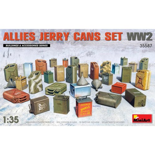 MIN35587 - Miniart 1:35 - Allies Jerry Cans Set WWII