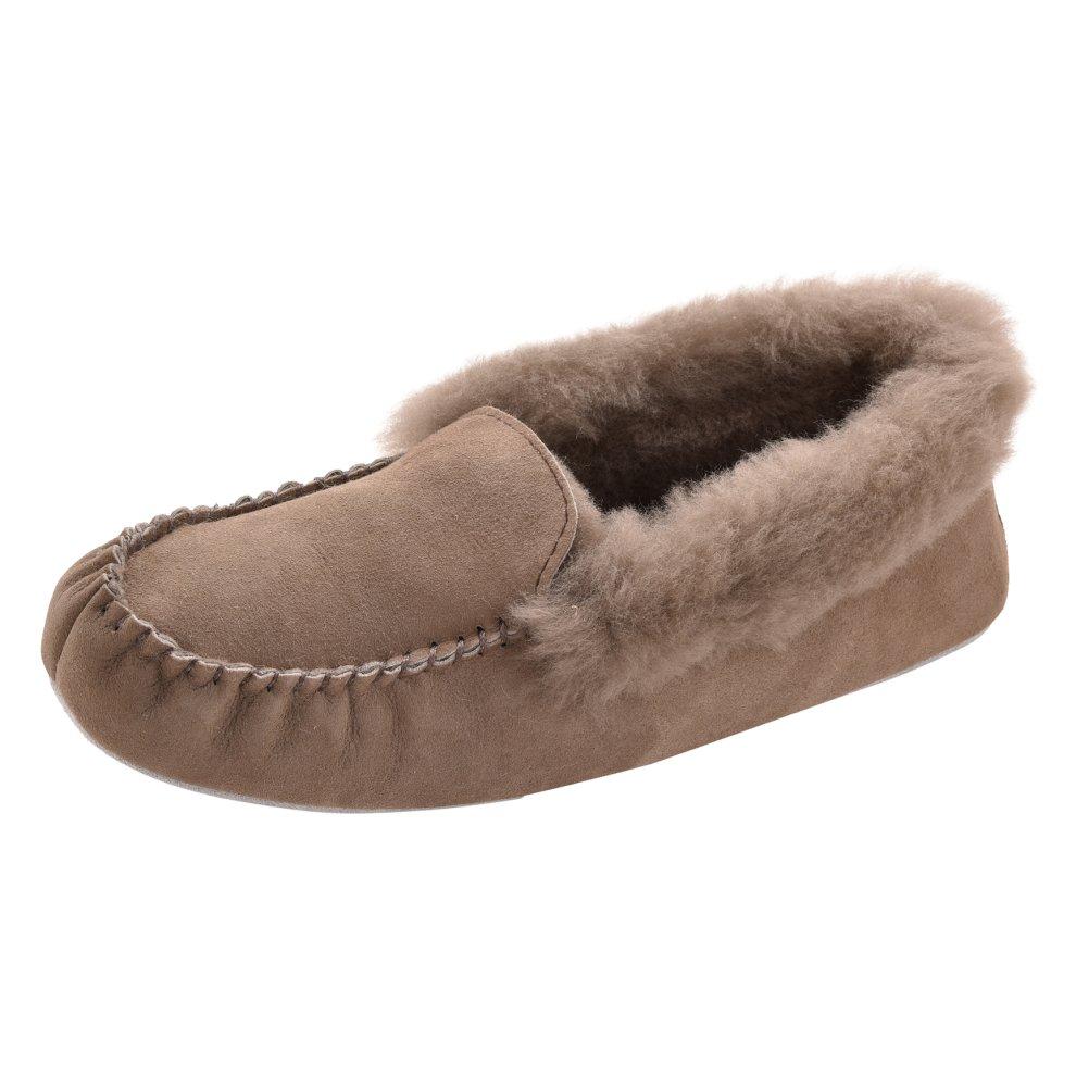 8b22c0542ea11 ... Shepherd of Sweden Ladies Soft Sole Slip On Moccasin Slippers - 2 ...