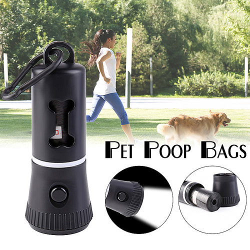 Portable Pet Waste Bags with LED