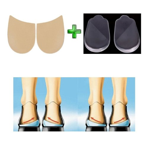 bc89dbe4141 Orthopedic Insoles Shoe Inserts Medial   Lateral Heel Wedge Silicone Pads  (2 Pairs Kit) on OnBuy